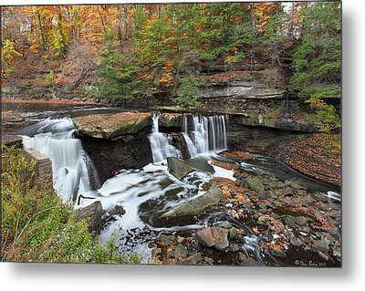 Metal Print featuring the photograph Bedford Viaduct Waterfall by Daniel Behm