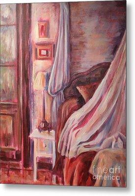 Bedside Lamp Metal Print by Ellen Howell