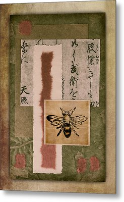 Bee Papers Metal Print by Carol Leigh
