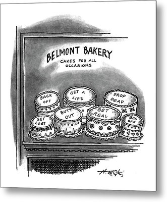 Belmont Bakery Cakes For All Occasions Metal Print