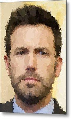 Ben Affleck Portrait Metal Print