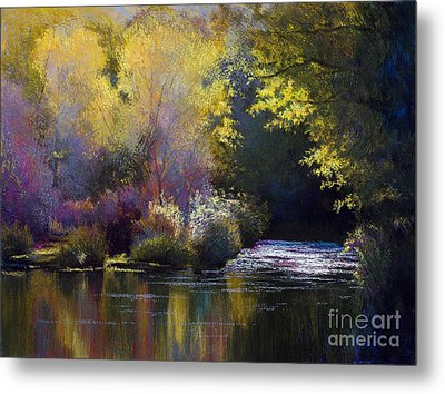 Bending With The River Metal Print by Vicky Russell