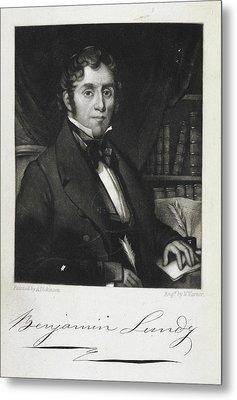 Benjamin Lundy Metal Print by British Library