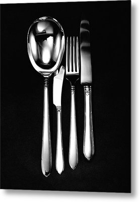 Berkeley Square Silverware Metal Print