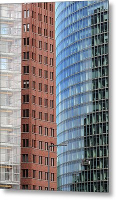 Berlin Buildings Detail Metal Print by Matthias Hauser