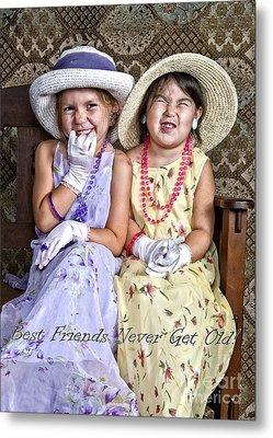 Best Friends Card Metal Print by Lee Craig