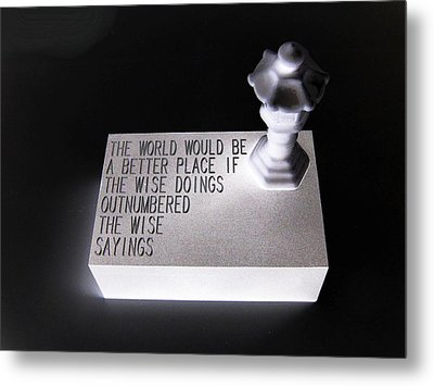Metal Print featuring the sculpture Better Place by Tony Murray