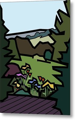 Betty's Garden Metal Print by Kenneth North