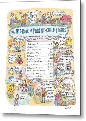 'big Book Of Parent-child Fights' Metal Print by Roz Chast