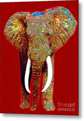 Big Elephant 20130201p0 Metal Print by Wingsdomain Art and Photography