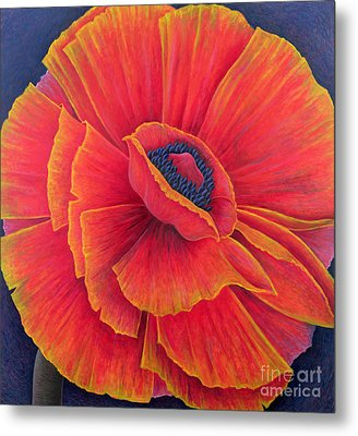 Big Poppy Metal Print
