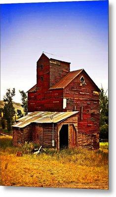 Big Red Grain Elevator Metal Print by Marty Koch