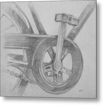 Bike Pedal Metal Print by Michele Engling