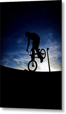 Bike Silhouette Metal Print by Joel Loftus