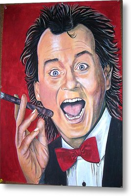 Bill Murray Metal Print by Linda Vaughon
