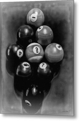 Billiards Art - Your Break - Bw  Metal Print