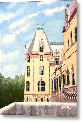Biltmore Balcony Metal Print by Stacy C Bottoms