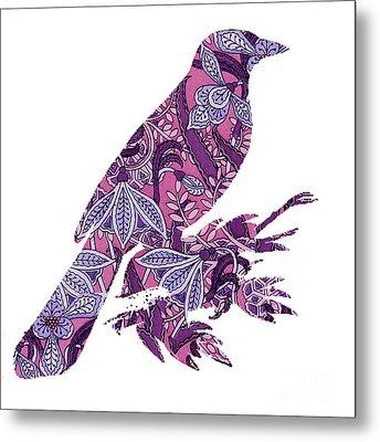 Bird Love Metal Print by Ramneek Narang