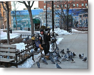 Metal Print featuring the photograph Bird Man by Paul Noble