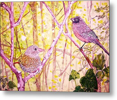 Bird Pair Metal Print by Linda Vaughon