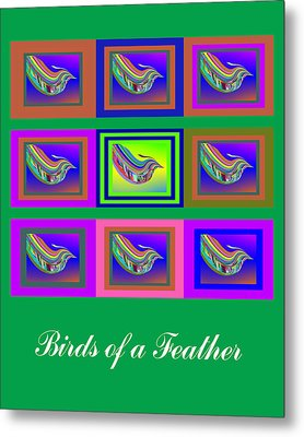 Birds Of A Feather 2 Metal Print