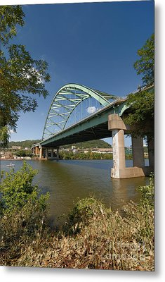 Birmingham Bridge Pittsburgh South Side Metal Print by Amy Cicconi