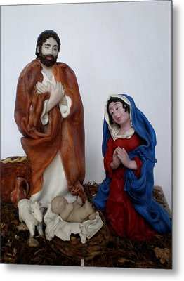 Birth Of Jesus Metal Print by Natalia Elerdashvili