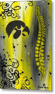 Black And Yellow Metal Print by Brent Buss