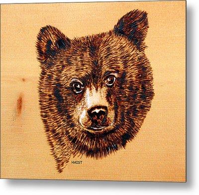 Black Bear Cub Metal Print by Ron Haist
