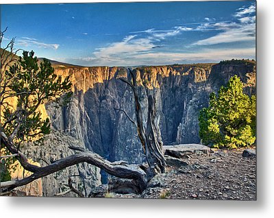 Black Canyon Fading Light Metal Print