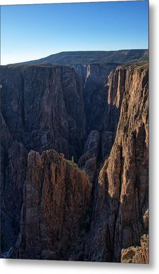 Metal Print featuring the photograph Black Canyon Into The Deep Hdr by Eric Rundle