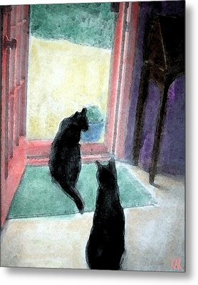 Black Cats Metal Print by Art by Kar