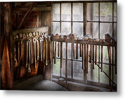 Black Smith - Draw Plates And Hammers  Metal Print by Mike Savad