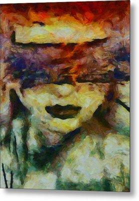Metal Print featuring the digital art Blinded By Sorrow by Joe Misrasi