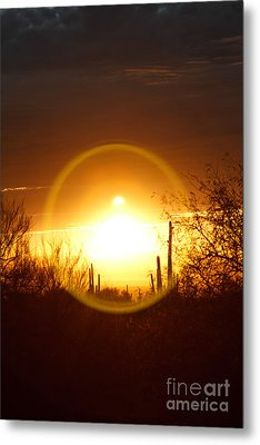 Blinded By The Light Metal Print by Crush Creations