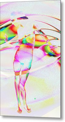 Blinded By The Light Metal Print by Kiki Art