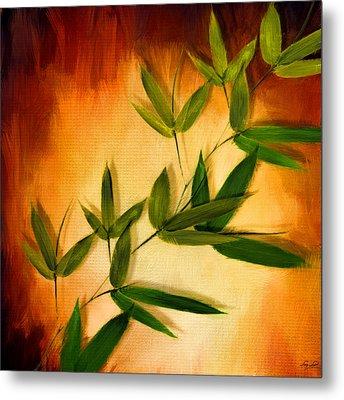 Blooming Leaves Metal Print by Lourry Legarde