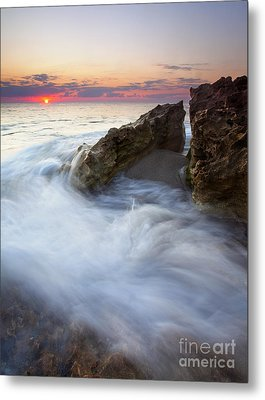 Blowing Rocks Sunrise Metal Print by Mike  Dawson
