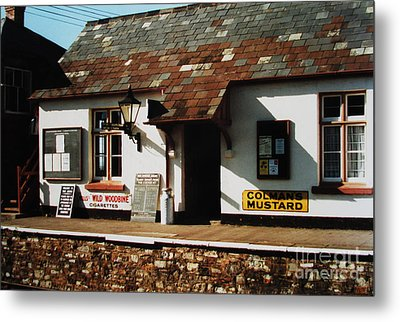 Blue Anchor Ticket Office Metal Print by Martin Howard