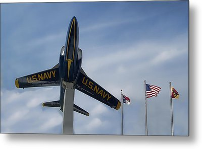 Metal Print featuring the photograph Blue Angels Tribute by Victor Montgomery