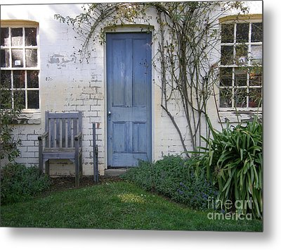 Metal Print featuring the photograph Blue Door by Bev Conover