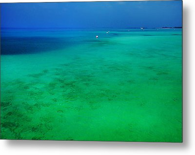 Blue Emerald. Peaceful Lagoon In Indian Ocean  Metal Print by Jenny Rainbow