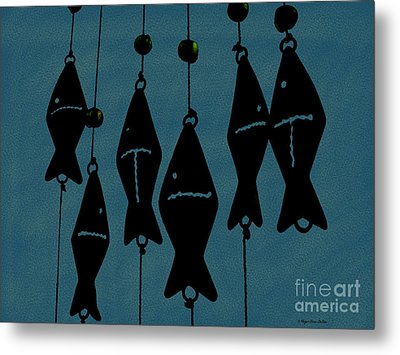 Blue Fish Mobile Metal Print by Megan Dirsa-DuBois