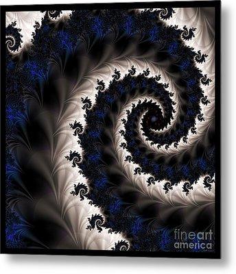 Blue Fractal Path Metal Print by Elizabeth McTaggart