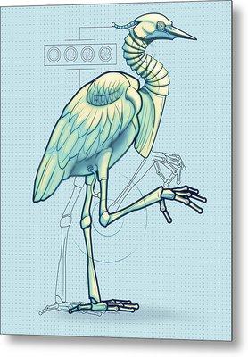 Blue Heron 3000 Metal Print by Vanessa Bates