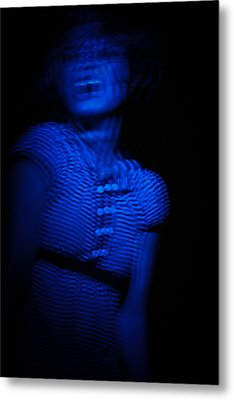 Blue Metal Print by Joel Loftus