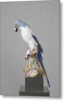 Blue Macaw, Meissener Porzellan Manufaktur Metal Print