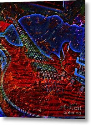 Blue Magic Digital Guitar Art By Steven Langston Metal Print by Steven Lebron Langston
