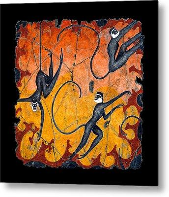 Blue Monkeys No. 9 Metal Print