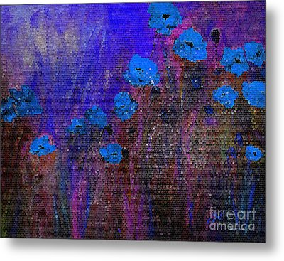 Blue Poppies Metal Print by Claire Bull